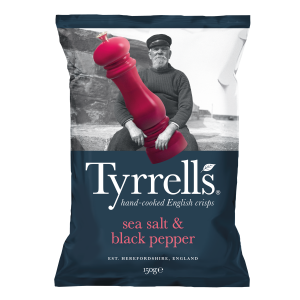 TYRRELL'S SEA SALT & BLACK PEPPER