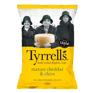 TYRRELL'S MATURE CHEDDAR & CHIVES
